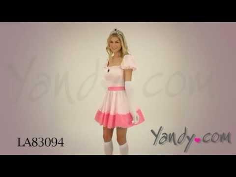 & Adult Princess Peach Costume - YouTube
