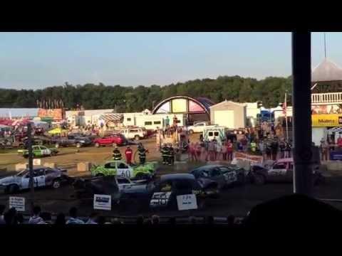 Demolition Derby 2015 Saratoga County Fair Round 1