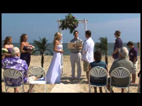 Beach Wedding At Ocean City Maryland Hilton Hotel