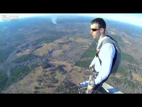 Base jump off 2000 foot tower!