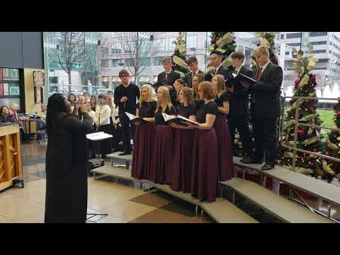 December 8th, 2019 Chase beatboxes with the Plaza Heights Christian Academy Choir at Crown Center