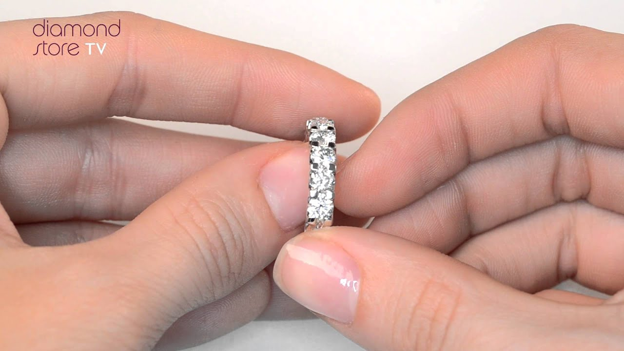 HG34 - Chloe 18K White Gold 3ct Diamond Full Eternity Ring - YouTube