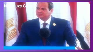 Opening ceremony of the new Suez Canal and the word Sisi President and the transit of ships