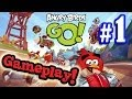 Let's play ANGRY BIRDS GO! Part 1 - EvanTubeHD Gameplay Action!