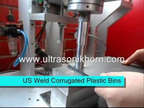 Ultrasonic Welding Machine For Corrugated Plastic Bins And Sheets
