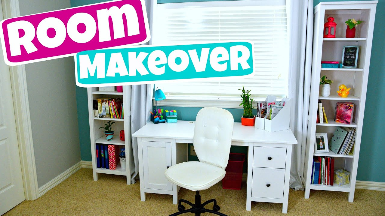Extreme teen room makeover organization and diy 39 s part for Room makeover