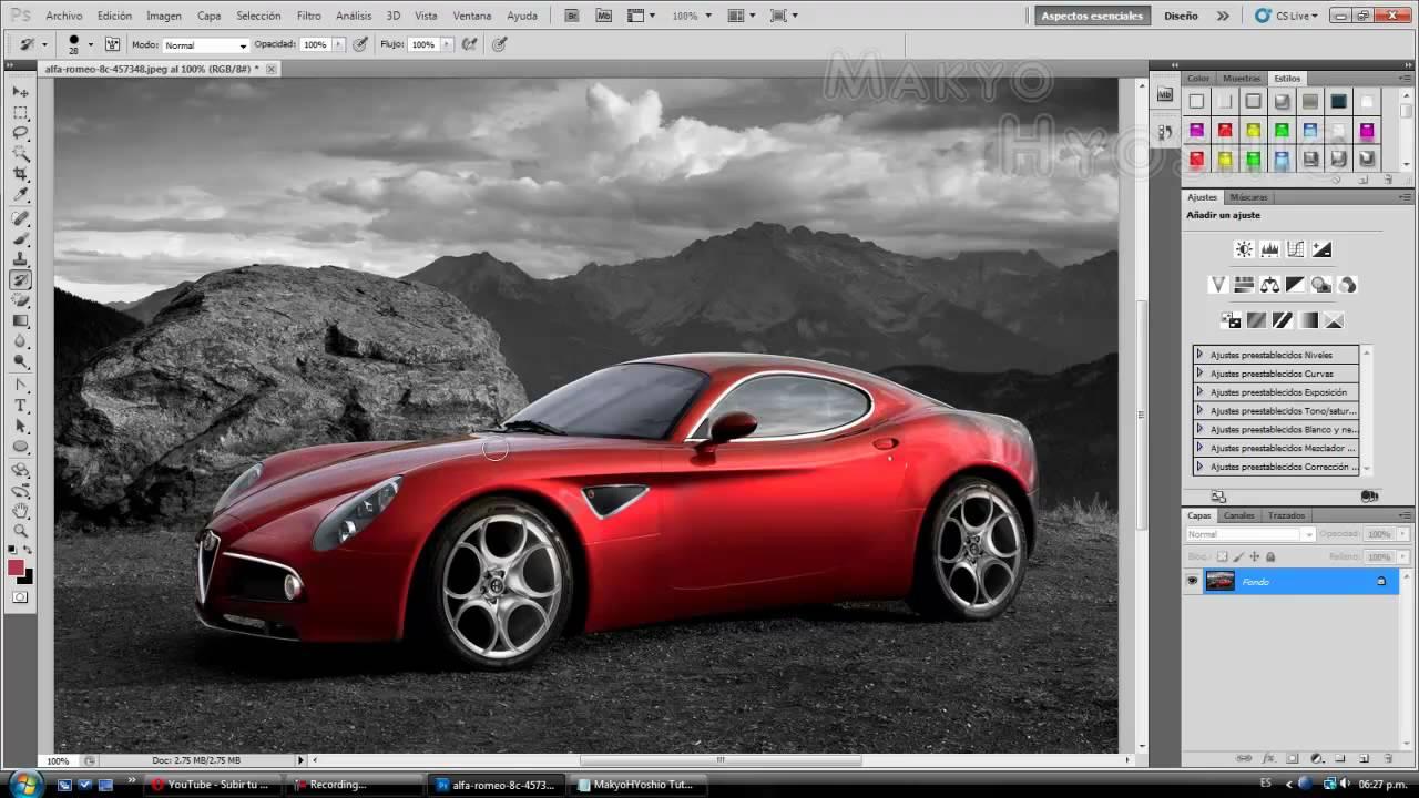 Tutorial fotos blanco y negro con objetos en color photoshop cs5 youtube - Fotos en blanco ...
