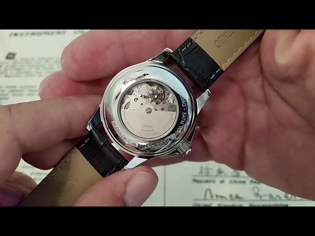 66426113c54 Cadisen Relógio Msculino Cerámico Analog Skeleton AUTO Data ...