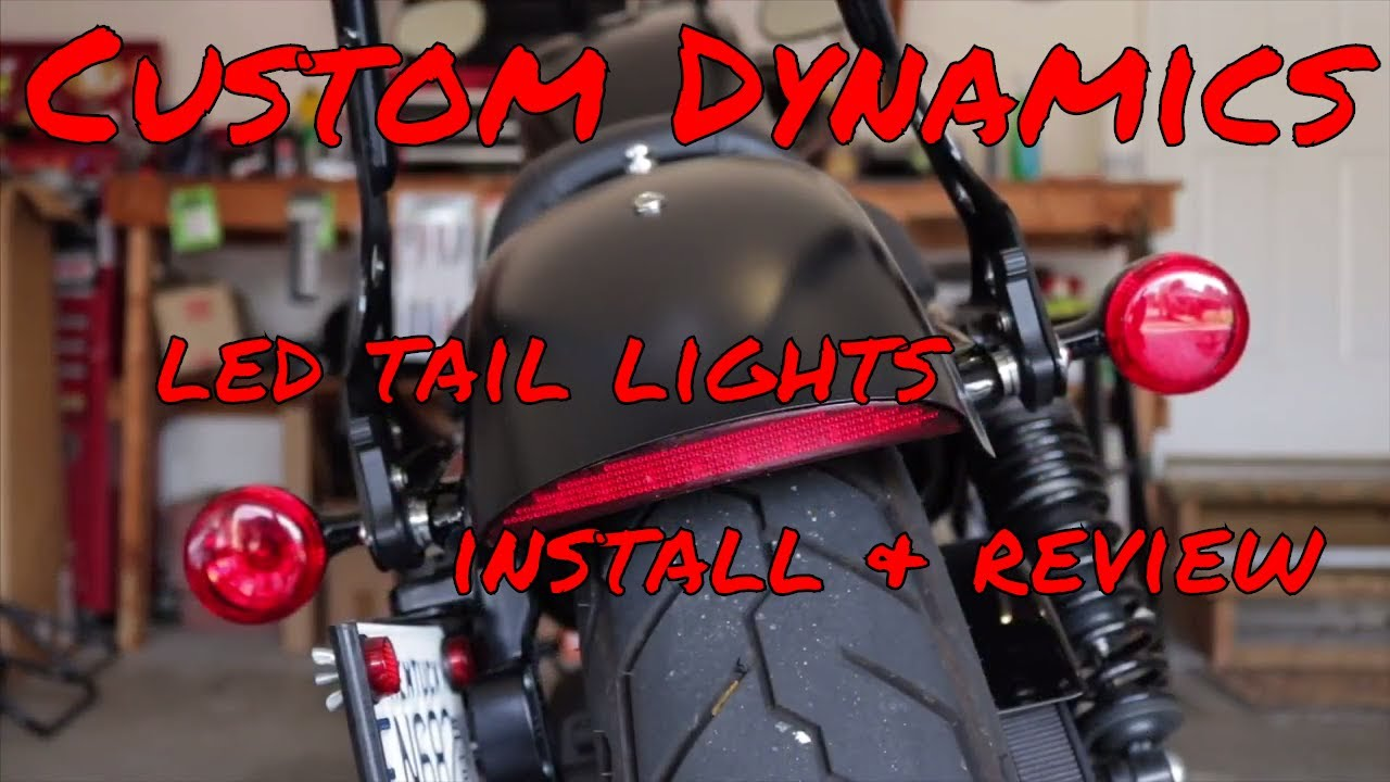 Sportster Iron 883-Custom Dynamics LED Tail Lights-Install &Review