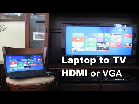 How to connect Laptop to TV using HDMI Cable or VGA Cable! - Fast & Easy