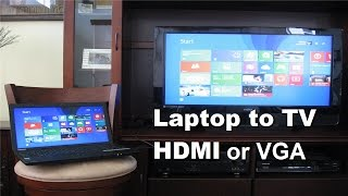 How to connect Laptop to TV using HDMI Cable or VGA Cable! - Fast & Easy(, 2014-10-30T16:18:32.000Z)