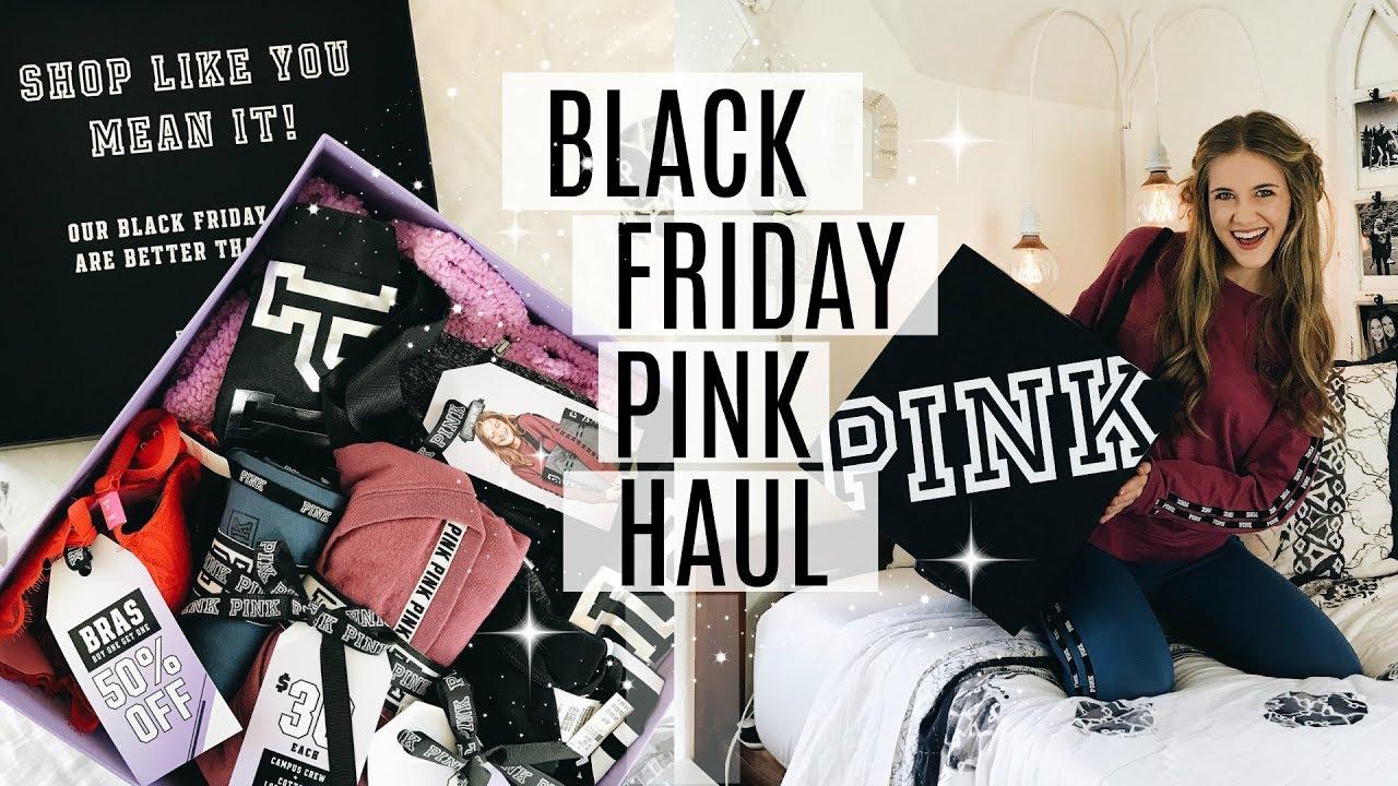 7a794d8f53 HUGE VS PINK BLACK FRIDAY UNBOXING HAUL   SNEAK PEEK! - YouTube