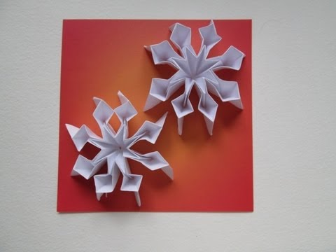 Snowflakes 25 Days Of Origami Day 10 Youtube