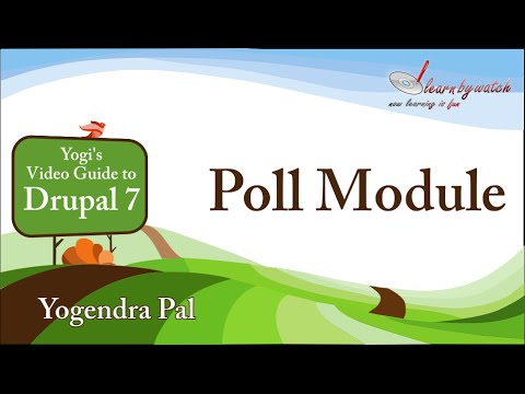 Poll Module in Drupal 7 - (Hindi / Urdu)
