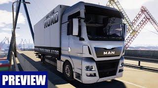 ON THE ROAD - Truck Simulator: Mit dem MAN-LKW unterwegs! GAMEPLAY Preview zum LKW-Simulator OTR