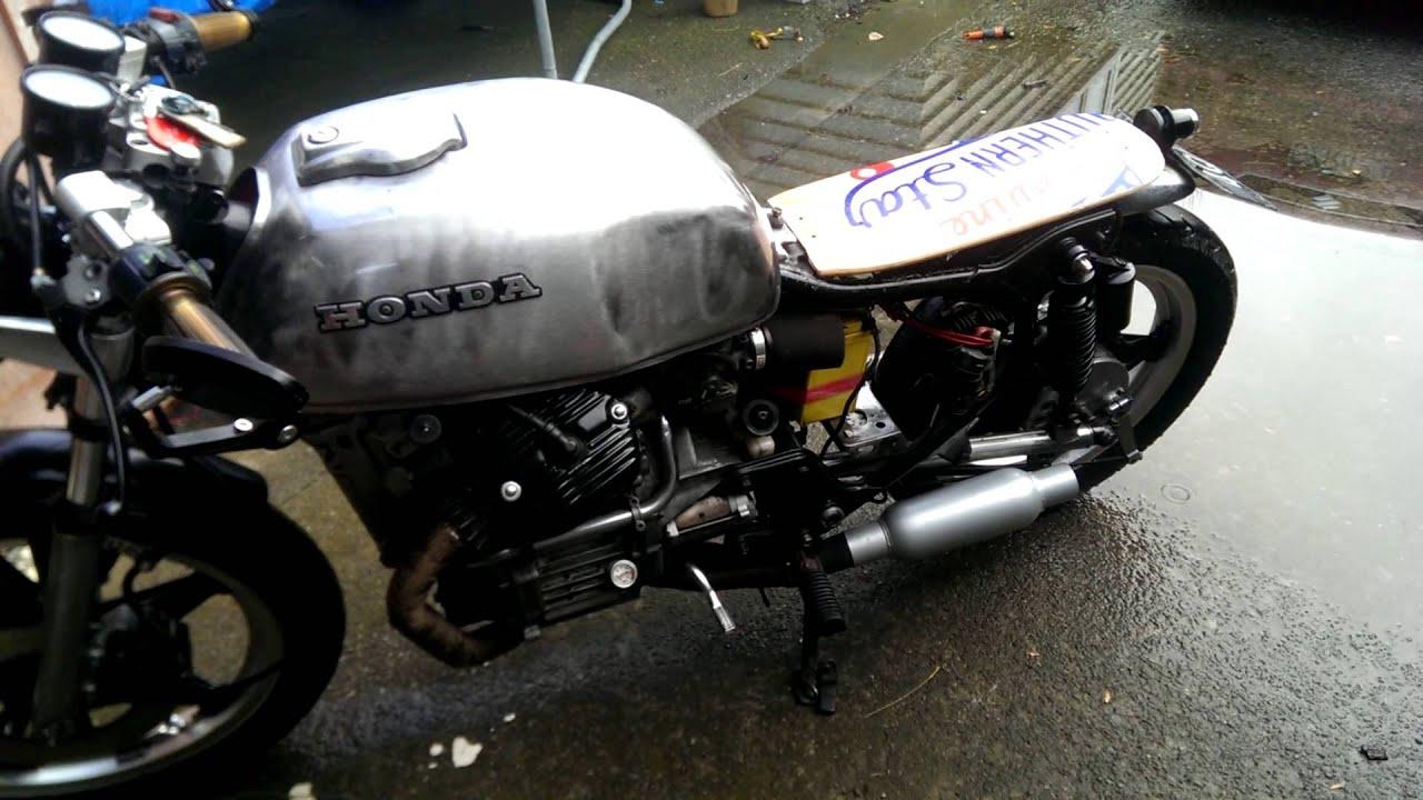 honda cx500 cafe racer short muffler - youtube