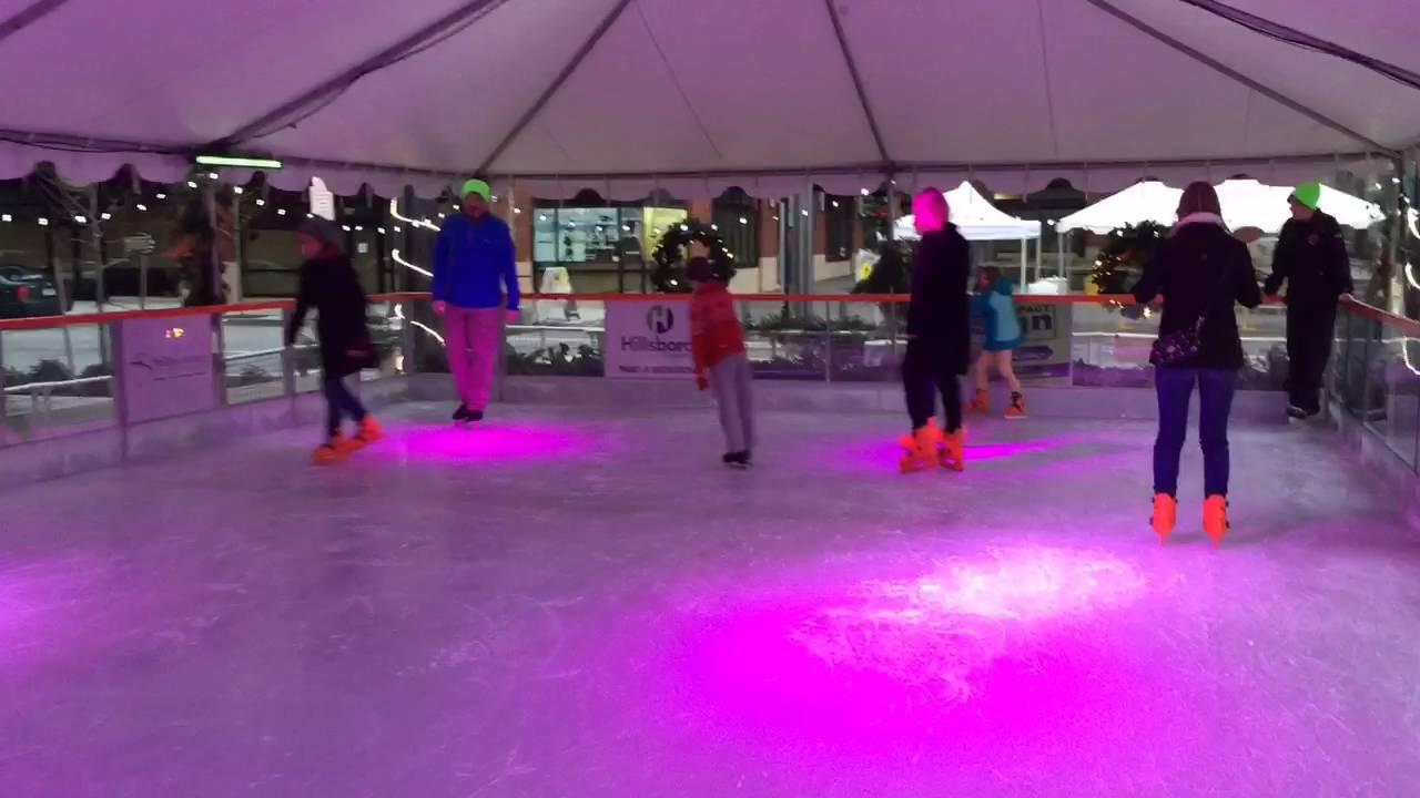 outdoor ice skating in hillsboro youtube