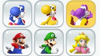 Super Mario Run - New Characters - Toad Rally (Blue, Yellow and Purple Yoshi) thumbnail