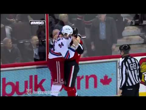 Derek Boogaard vs Matt Carkner Dec 9, 2010