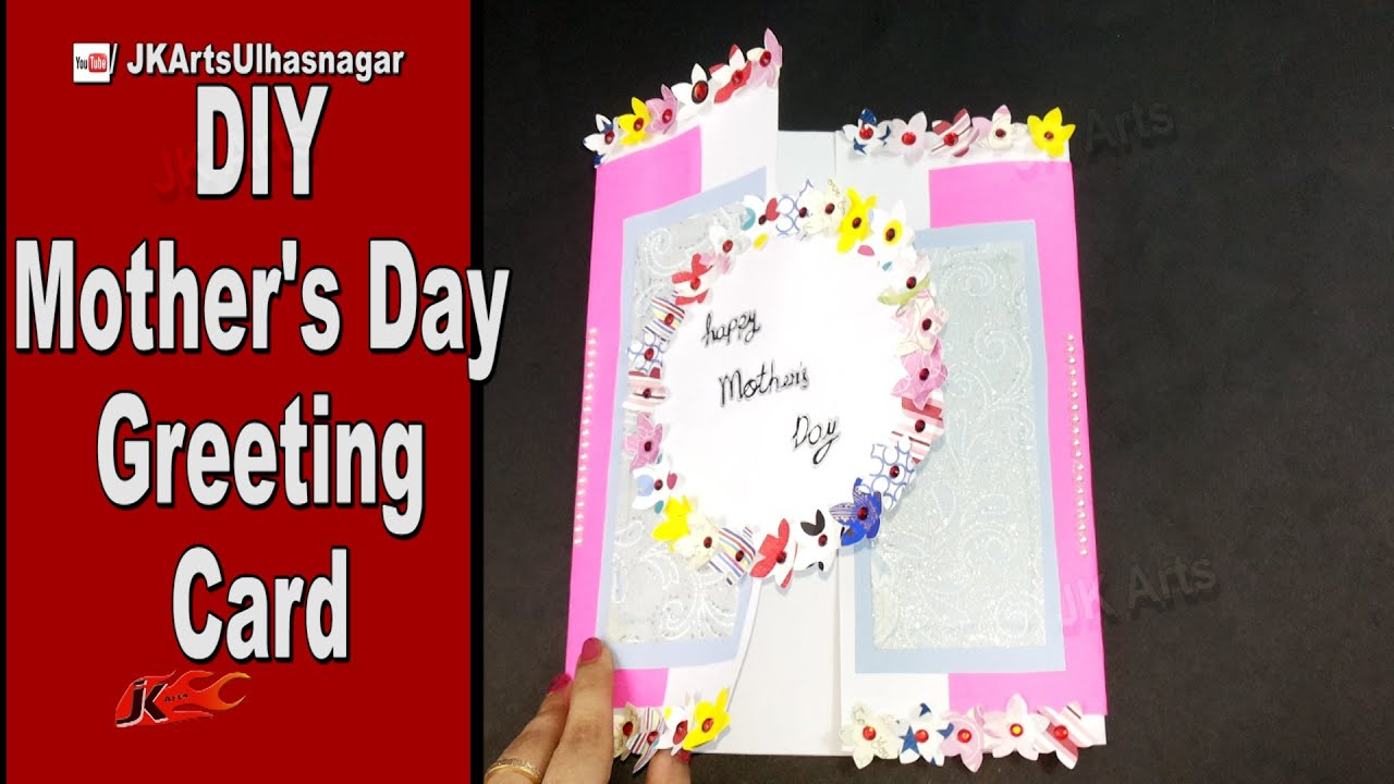 Art And Craft Ideas For Making Greeting Cards Part - 31: DIY Easy Greeting Card For Motheru0027s Day / Teacheru0027s Day | JK Arts 940 -  YouTube