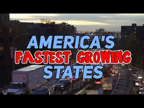 The 10 FASTEST GROWING States In AMERICA