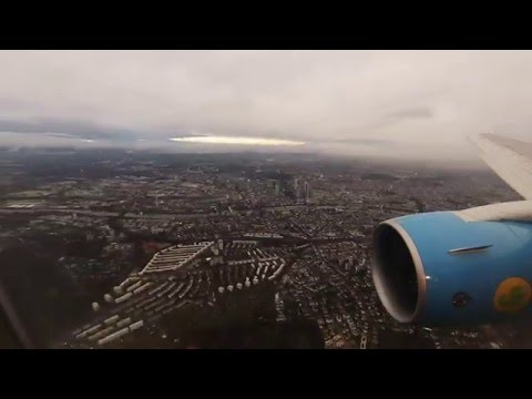Uzbekistan Airways Boeing 767-300ER SCENIC ARRIVAL at Frankfurt Airport