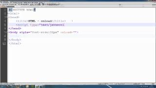 HTML Tutorial 15 - onload