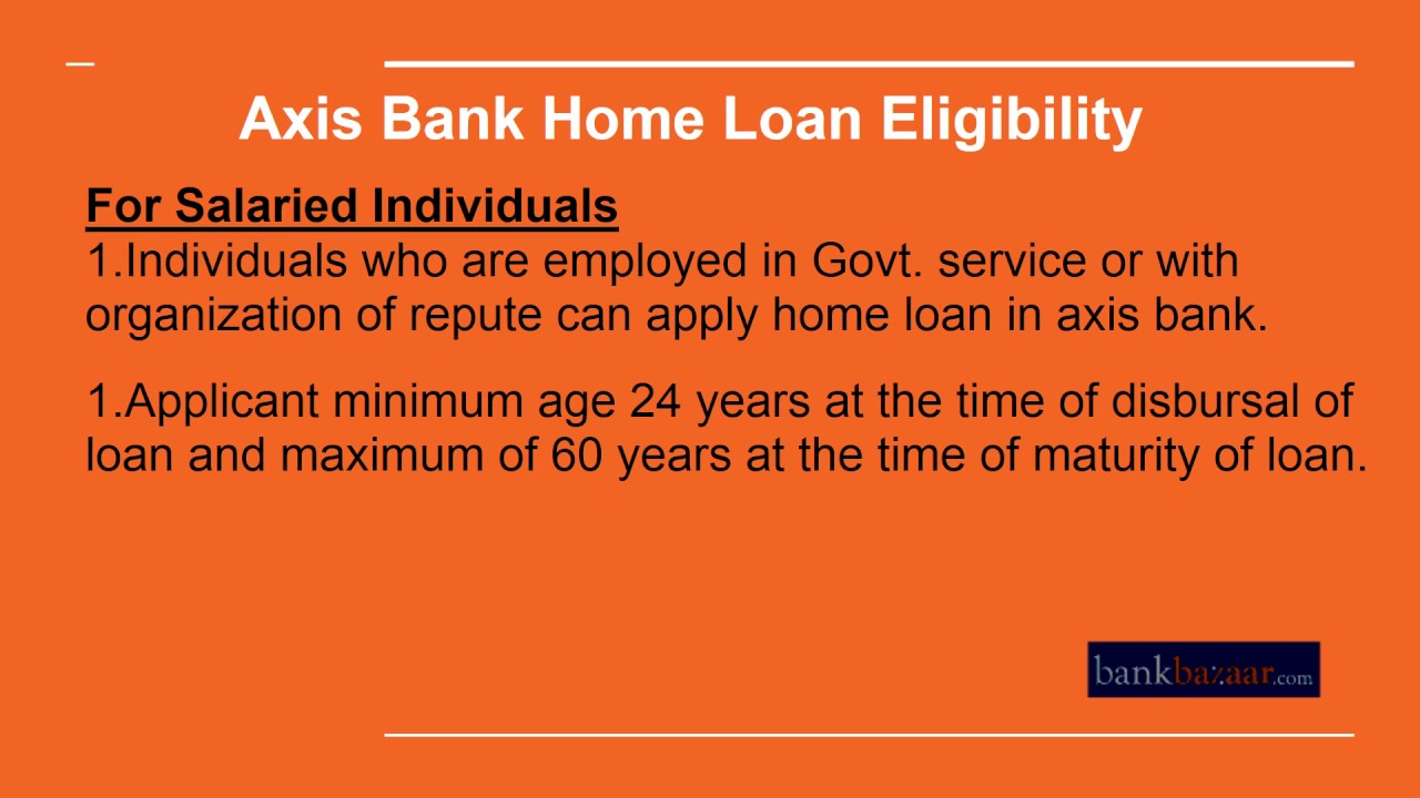 home loan interest from axis bank