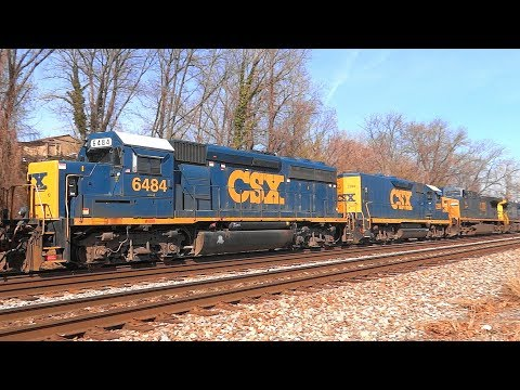 Csx & Marc Trains Plus Planes & Mow Seen In Relay
