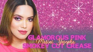 GLAMOROUS PINK SMOKEY CUT CREASE with MORPHE 35M BOSS MOOD   Make Up Tutorial