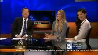 colbie caillat and christina perri on KTLA News 5 - 16 / 06 / 2015