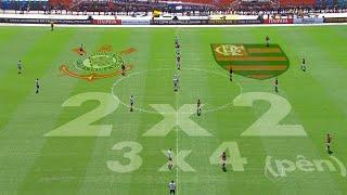 Jogo completo Corinthians 2 x 2 Flamengo - Final Copa São Paulo Jr. 2016 60 fps