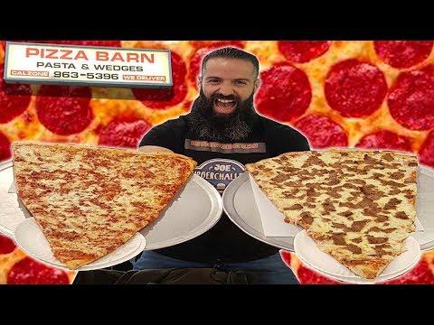 La Porción De Pizza Más Grande Del Mundo En Pizza Barn Yonkers Youtube