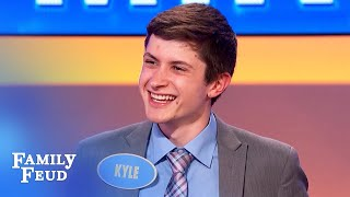 Gotta get STONED before I go to... CHURCH? | Family Feud