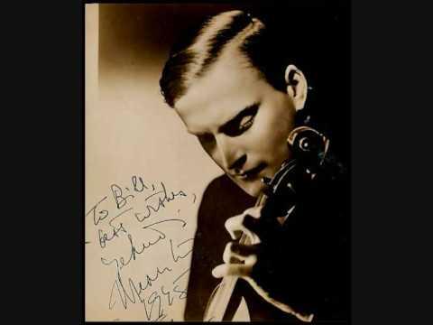 """Young Menuhin plays """"La Campanella"""" 1930"""
