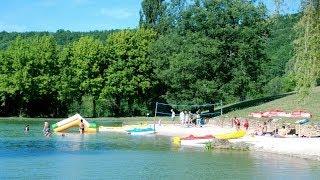 Camping Dordogne avec lac, trampoline, toboggans flottants, le paradis au Moulin de Surier !