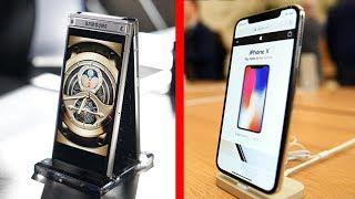 ЧТО КРУЧЕ - iPhone X или Samsung W2018 ?