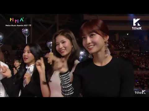 171202 EXO & TWICE Reaction Na Haeun Dance Cover@ Melon Music Awards 2017