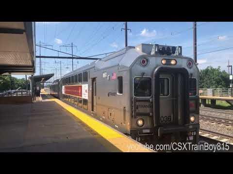 NJ Transit PTC Test Train @ Edison Station With The Pennsylvania Railroad Heritage Banner Cab Car