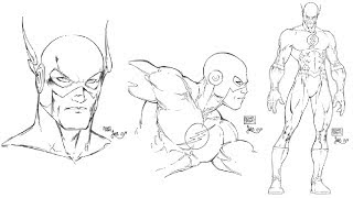 "Inking The Flash ""Michael Turner"""