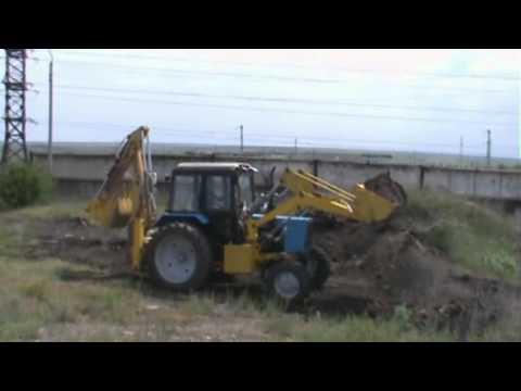 Беларус 921 с погрузчиком универсал 800 - YouTube