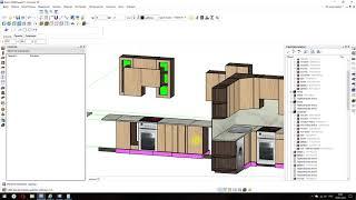 Быстрое создание проекта кухни в базис мебельщик (начало)
