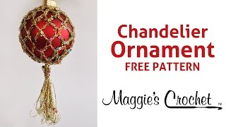 Enchant Chandelier Ornament Free Crochet Pattern - Right Handed