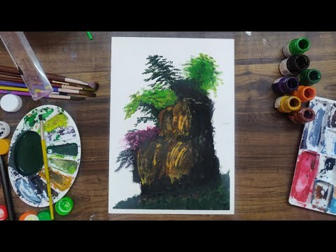 A landscape painting…A simple watercolor painting.