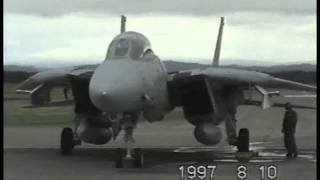 F-14トムキャット厚木帰投 F14 Homing To ATSUGI(1997.Aug.10 CHITOSE.A.B)