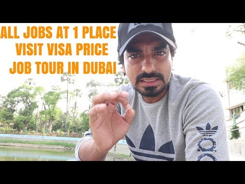 All Category Jobs In Dubai | Visit Visa | Dubai Jobs Tour With Me | Babas Vlogs
