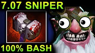 UNLIMITED BASH SNIPER - DOTA 2 PATCH 7.07 NEW META PRO GAMEPLAY