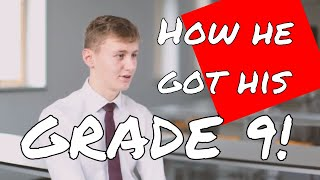 How he got his grade 9!  Study stips for getting the top GCSE grades!