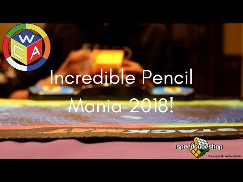 Incredible Pencil Mania 2018 Rubik's Cube Competition!