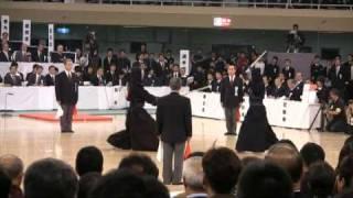 4回戦 第56回全日本剣道選手権大会 2008/11/3 寺本選手(大阪) 対 正...
